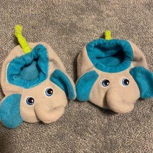 Elephant Rattle Baby Slippers